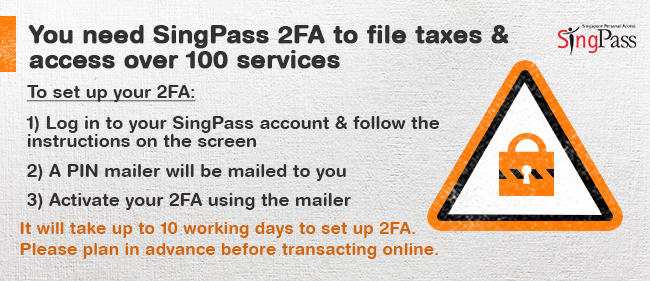 SingPass 2FA For Tax Season 2017