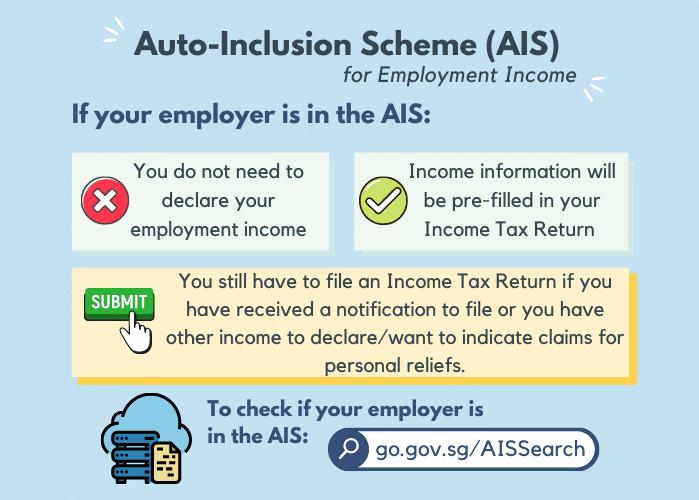 Auto-Inclusion Scheme (AIS) for Employment Income