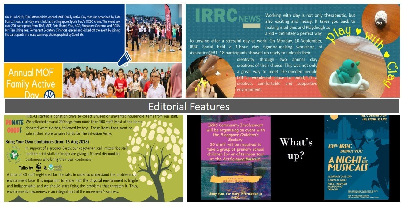 Samples of editorial features done by the IRRC Editorial Committee