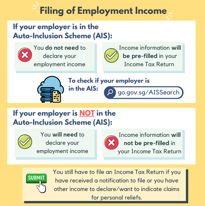 Filing of Employment Income
