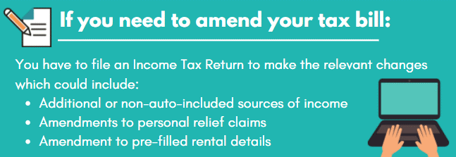If you need to amend your tax bill