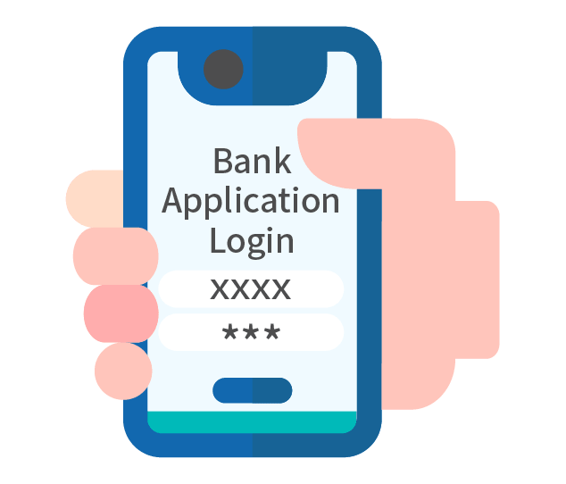 Log in to your mobile bank application