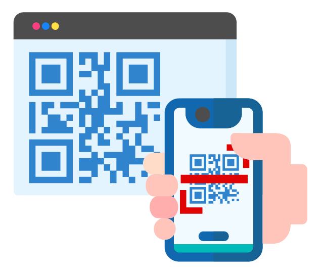 Scan or upload generated QR code