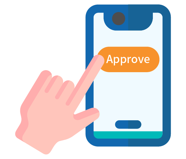 Approve the payment in your mobile phone