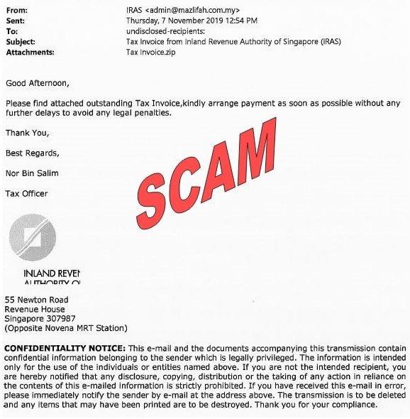 Scam email_Nov 2019