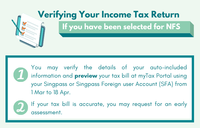 Verifying your Income Tax Return (NFS)